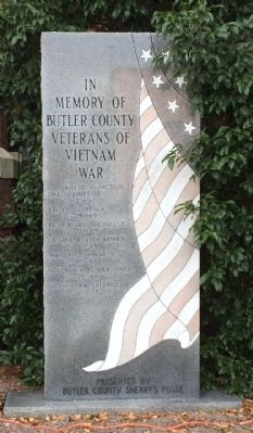 In Memory of Butler County Veterans of Vietnam War Monument image. Click for full size.