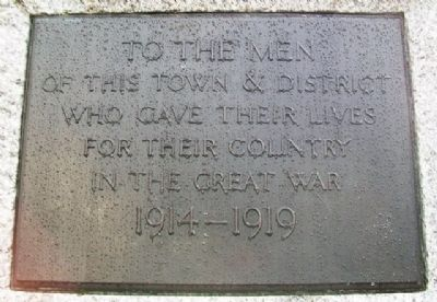 World Wars Memorial Marker image. Click for full size.