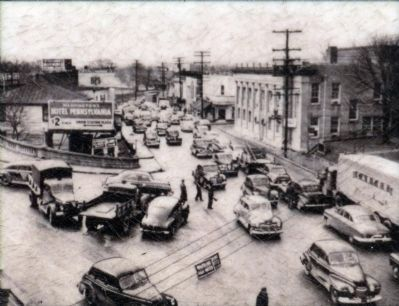 Downtown Hyattsville, 1955 image. Click for full size.