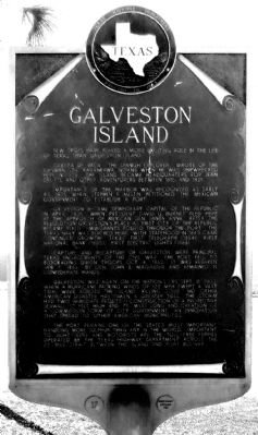 Galveston Island Marker image. Click for full size.