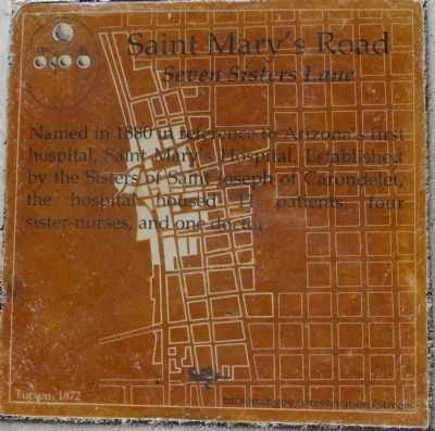 Saint Mary's Road Marker image. Click for full size.