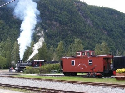 White Pass-Yukon Railway Locomotive and Caboose-Skagway image. Click for full size.