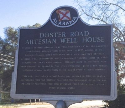 Doster Road Artesian Well House Marker image. Click for full size.