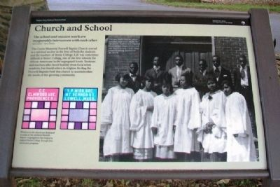 Church and School Marker image. Click for full size.