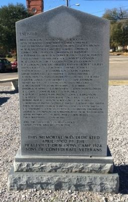 The Prattville Dragoons Marker (Reverse) image. Click for full size.