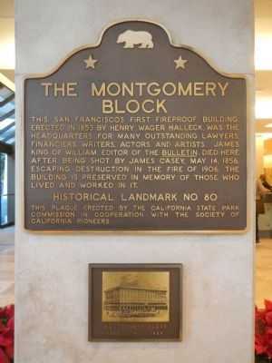 The Montgomery Block Marker image. Click for full size.