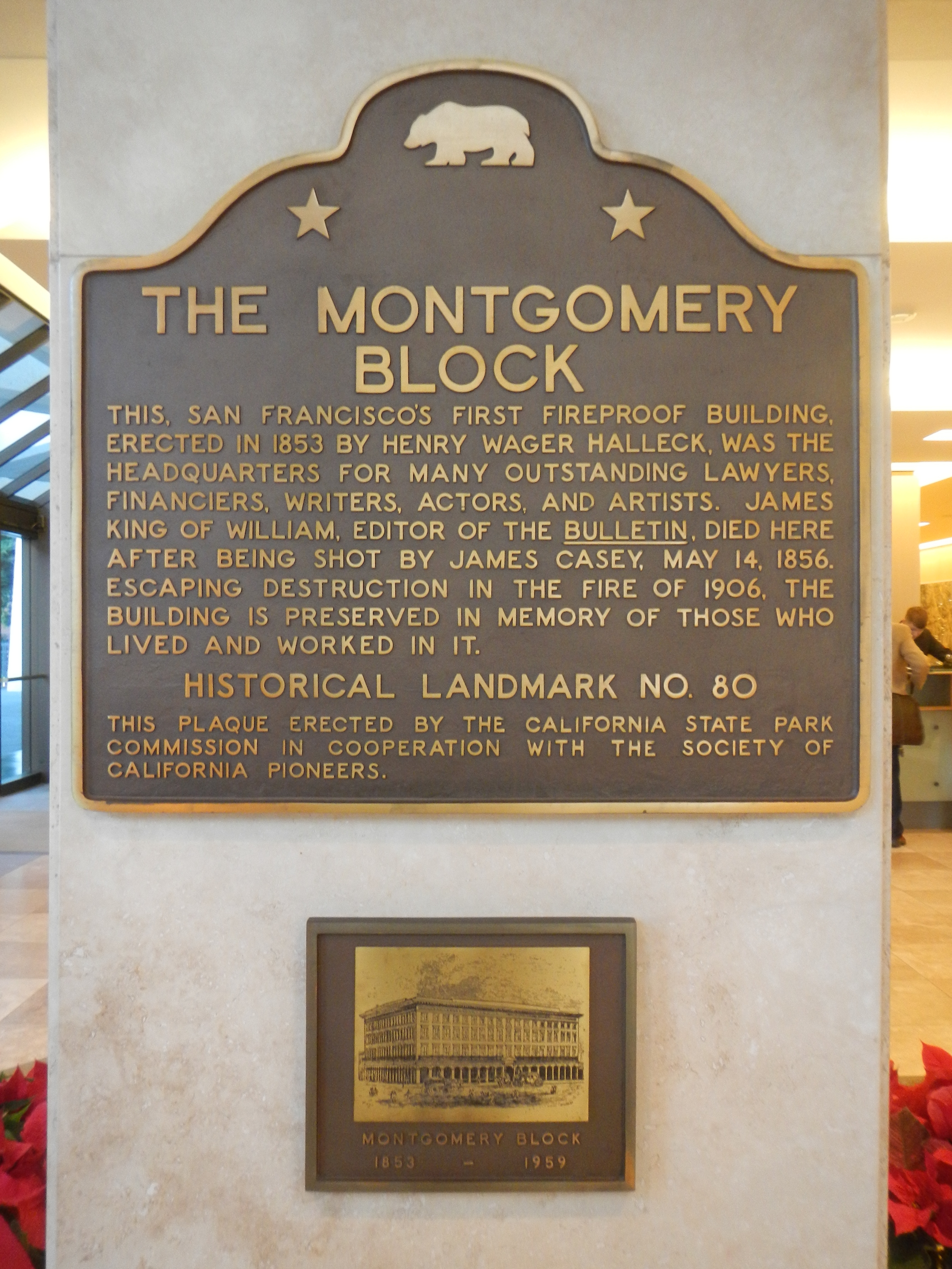 The Montgomery Block Marker