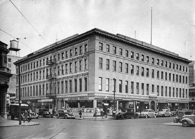 The Montgomery Block in the 1930s. image. Click for full size.