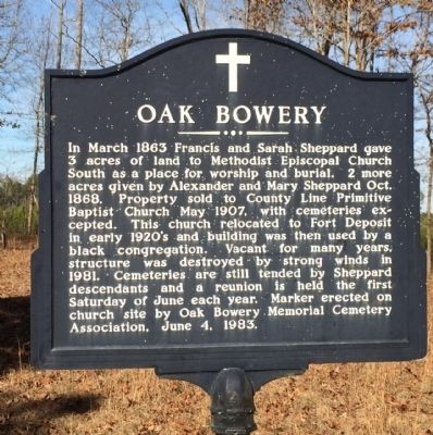 Oak Bowery Marker image. Click for full size.