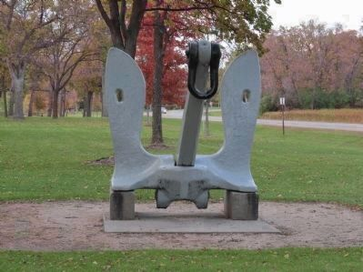 15-Ton Anchor at Memorial image. Click for full size.