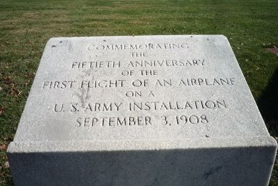 Fiftieth Anniversary - First Flight of an Airplane on a U.S. Army Installation Marker image. Click for full size.