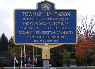Town of Halfmoon Marker image. Click for full size.