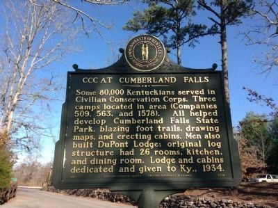 Up-Date Photo - - CCC at Cumberland Falls Marker image. Click for full size.