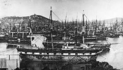 Abandoned Gold Rush Ships in San Francisco Bay image. Click for full size.