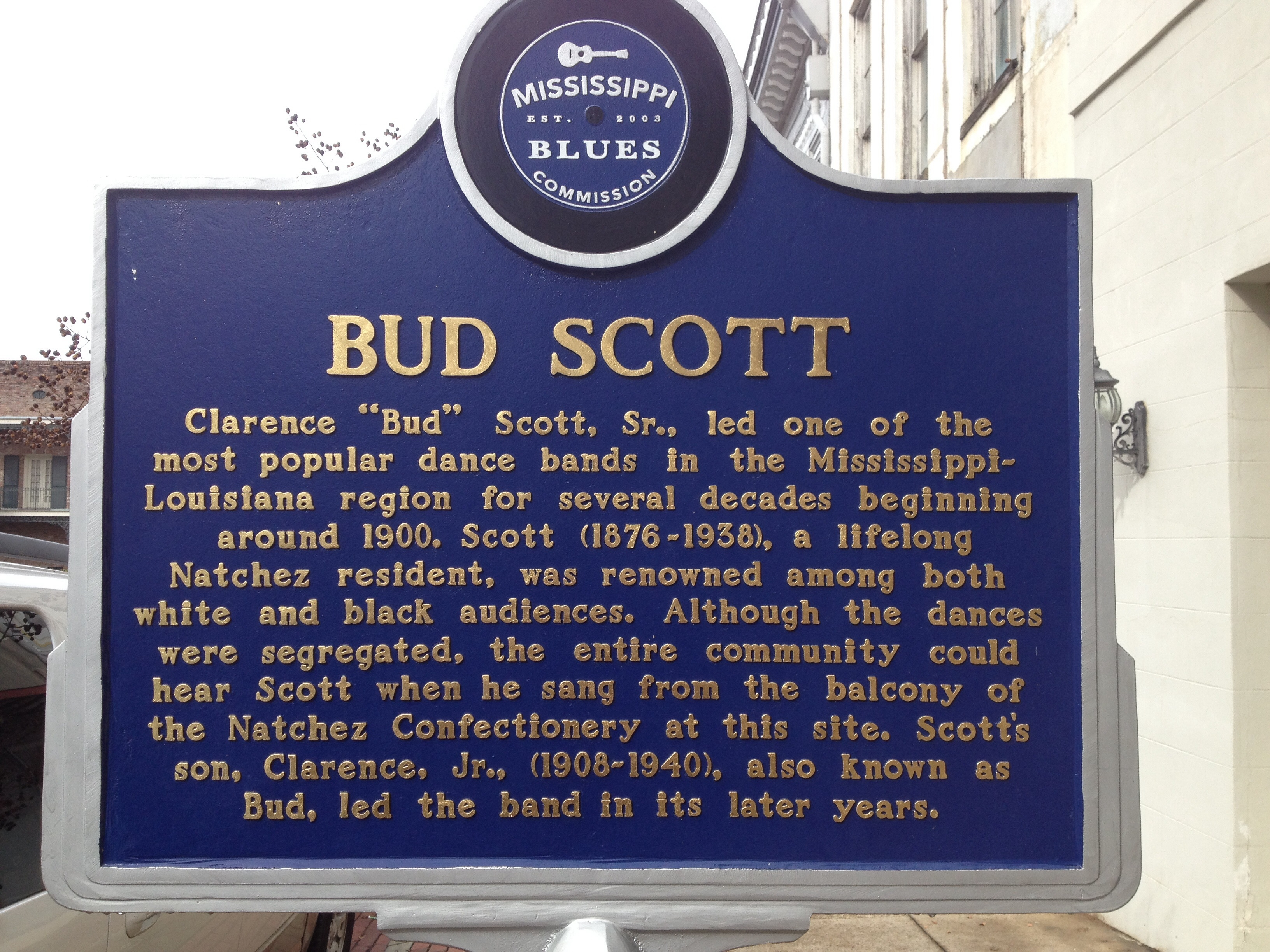 Bud Scott Marker (side 1)