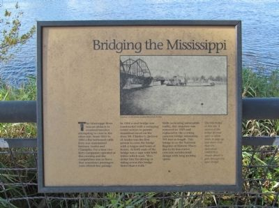 Bridging the Mississippi Marker image. Click for full size.