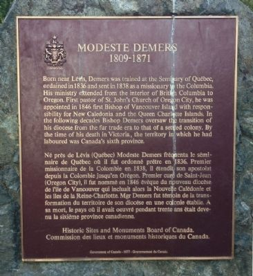 Modeste Demers Marker image. Click for full size.