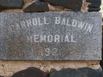The Carroll Baldwin Memorial Hall Cornerstone image. Click for full size.