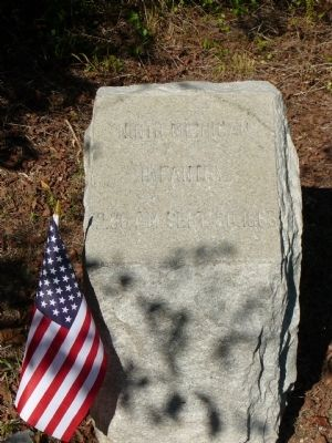 Ninth Michigan Marker at Chickamauga Marker image. Click for full size.