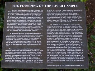 The Founding of the River Campus Marker image. Click for full size.