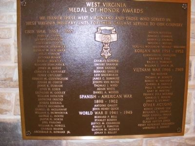 Medal of Honor Recipients Memorial Plaza Marker image. Click for full size.