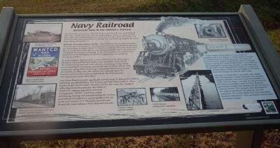 """Navy Railroad"" Marker - off Mattingly Street at the west end of the hiker/biker ""Rail Trail"" image. Click for full size."
