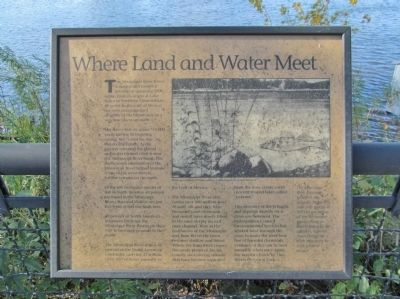 Where Land and Water Meet Marker image. Click for full size.