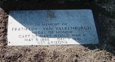 Franklin Van Valkenburgh Memorial Marker image. Click for full size.