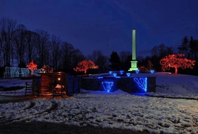 Joseph Smith Birthplace Memorial Annual Christmas Light Display image. Click for full size.