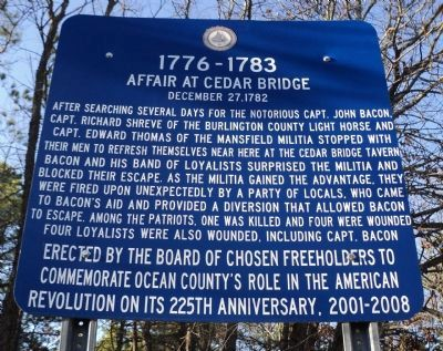 Affair at Cedar Bridge Marker image. Click for full size.