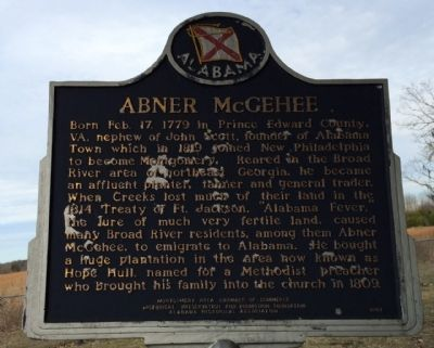 Abner McGehee Marker image. Click for full size.