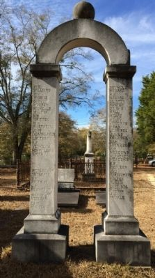 Our Confederate Soldiers Memorial (Rear) image. Click for full size.