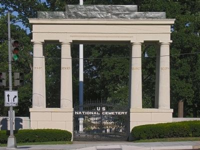 The nearby formal entry to the United States Soldiers' and Airmen's Home National Cemetery. image. Click for full size.