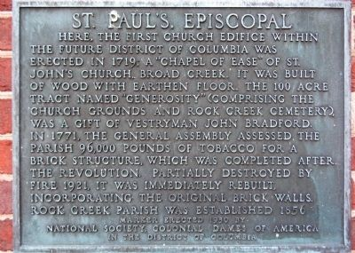 St. Paul's Episcopal Marker image. Click for full size.