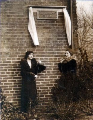 Dedicating the Alva Belmont House image. Click for full size.