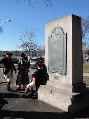Reenactors at the Spirit of Justice Marker image. Click for full size.