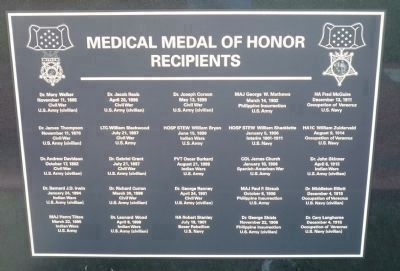Medical Medal of Honor Recipients - Panel 1 image. Click for full size.