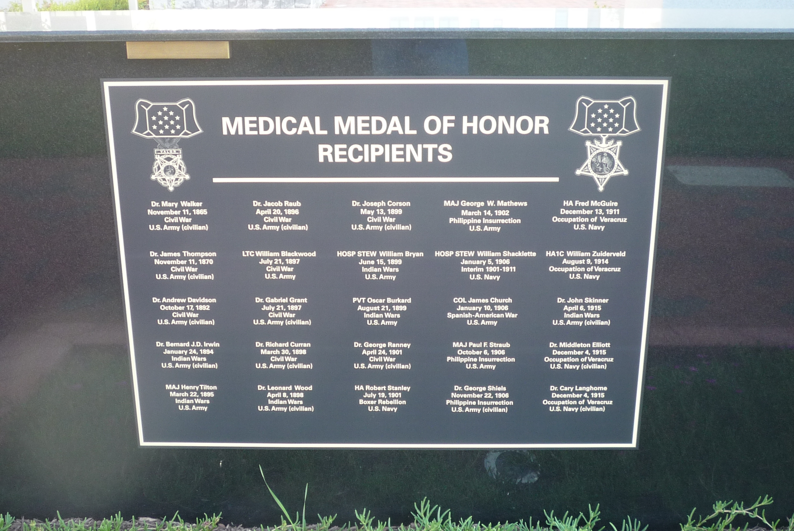 Medical Medal of Honor Recipients - Panel 1