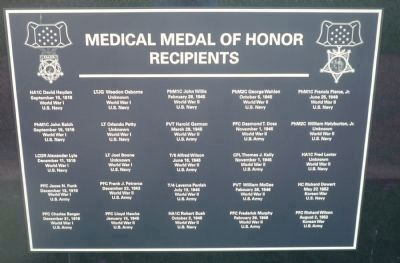 Medical Medal of Honor Recipients - Panel 2 image. Click for full size.