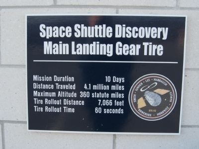 Space Shuttle Discovery Main Landing Gear Tire image. Click for full size.