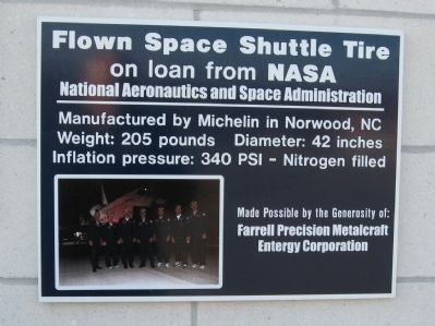 Flown Space Shuttle Tire image. Click for full size.