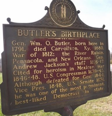 Butler's Birthplace Marker image. Click for full size.