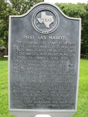 Post San Marcos Marker image. Click for full size.