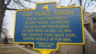 Gad Pierce Tavern Marker image. Click for full size.