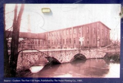 Former Hawk Furniture factory building on west bank of canal image. Click for full size.