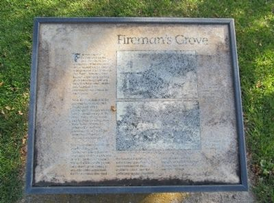 Fireman's Grove Marker image. Click for full size.