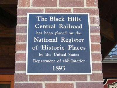 The Black Hills Central Railroad Marker image. Click for full size.