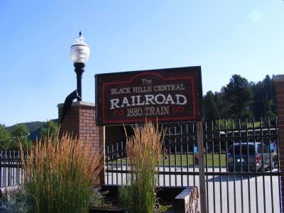 The Black Hills Central Railroad-Sign at the parking lot image. Click for full size.