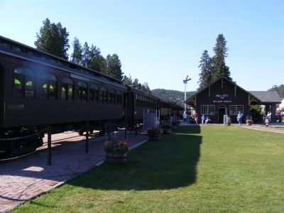 The Black Hills Central Railroad Depot and Train Cars image. Click for full size.