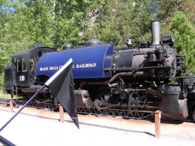 The Black Hills Central Railroad-Locomotive 110 read to go image. Click for full size.